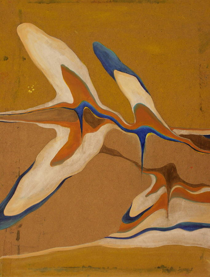 Abstract Painting - Blue Birds by Devin Roberts