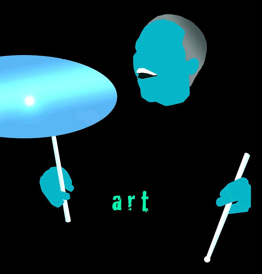 Jazz Digital Art - Blue Blakey by Victor Bailey
