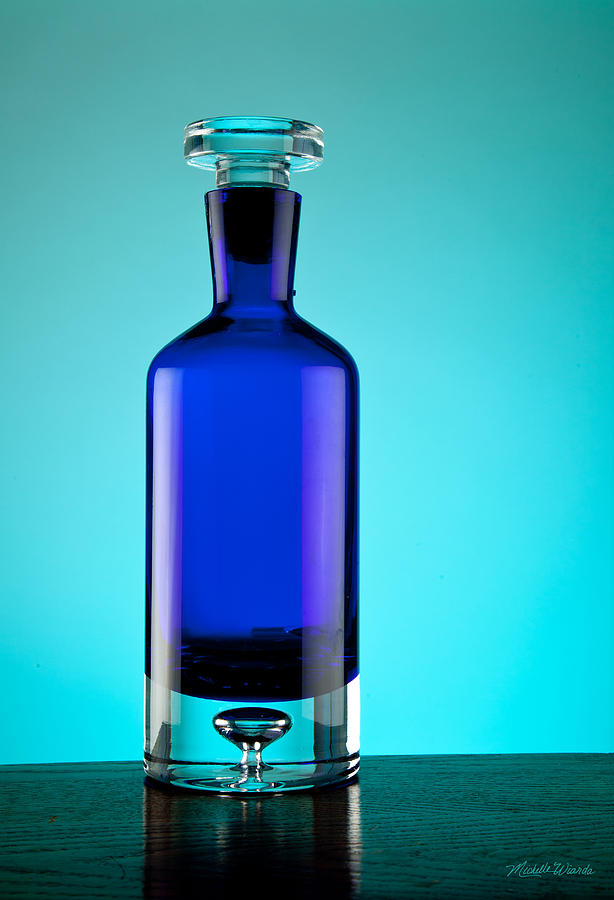 Glass Photograph - Blue Bottle by Michelle Wiarda