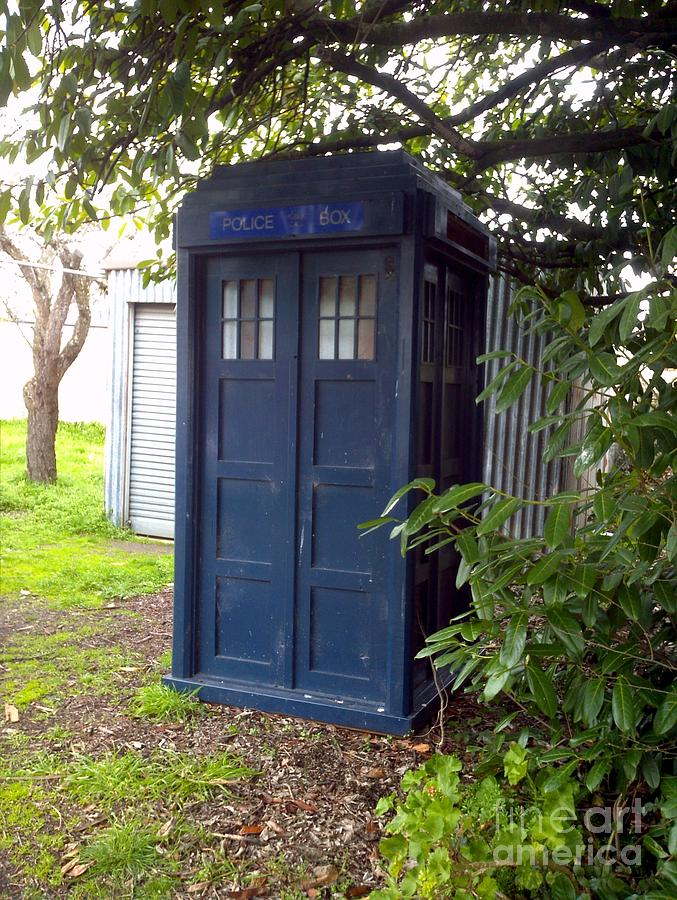 Doctor Who Photograph - Blue Box by Julie Butterworth