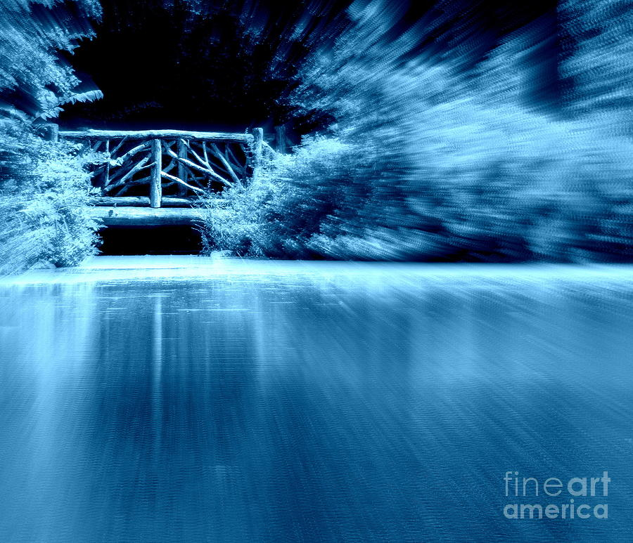 Bridge Photograph - Blue Bridge by Maria Scarfone