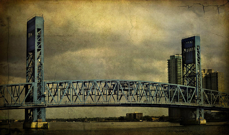 Black And White  Photograph - Blue Bridge by Mario Celzner