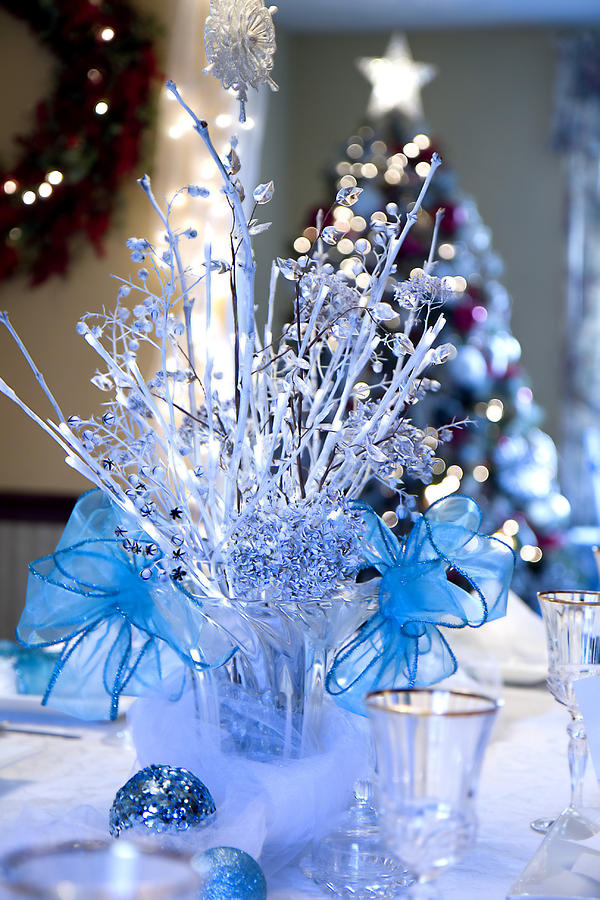 Elegant Photograph - Blue Christmas by Trudy Wilkerson