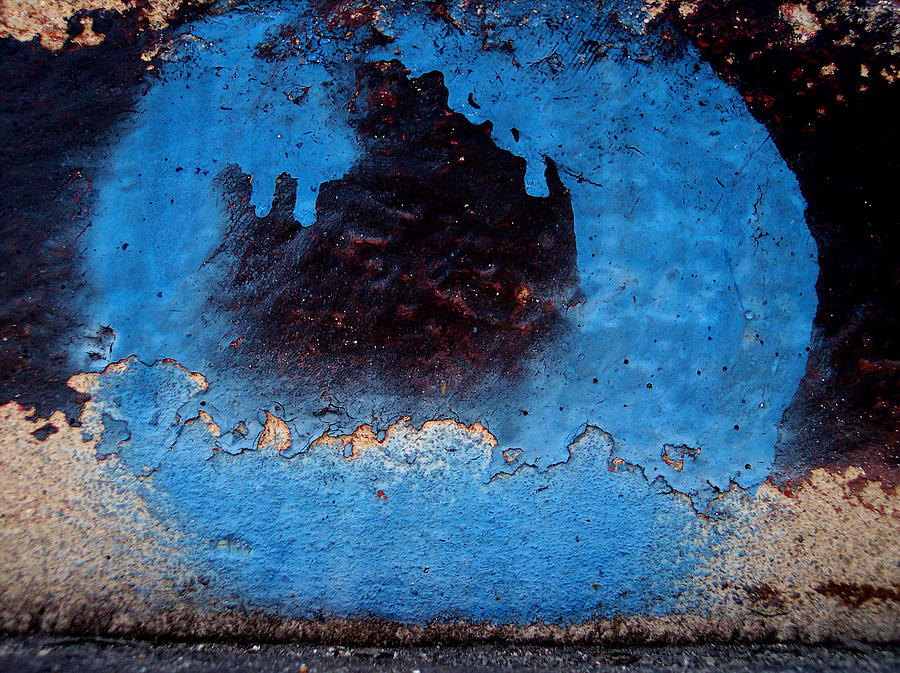 Abstracts Photograph - Blue Circle  by Ludmil Dimitrov