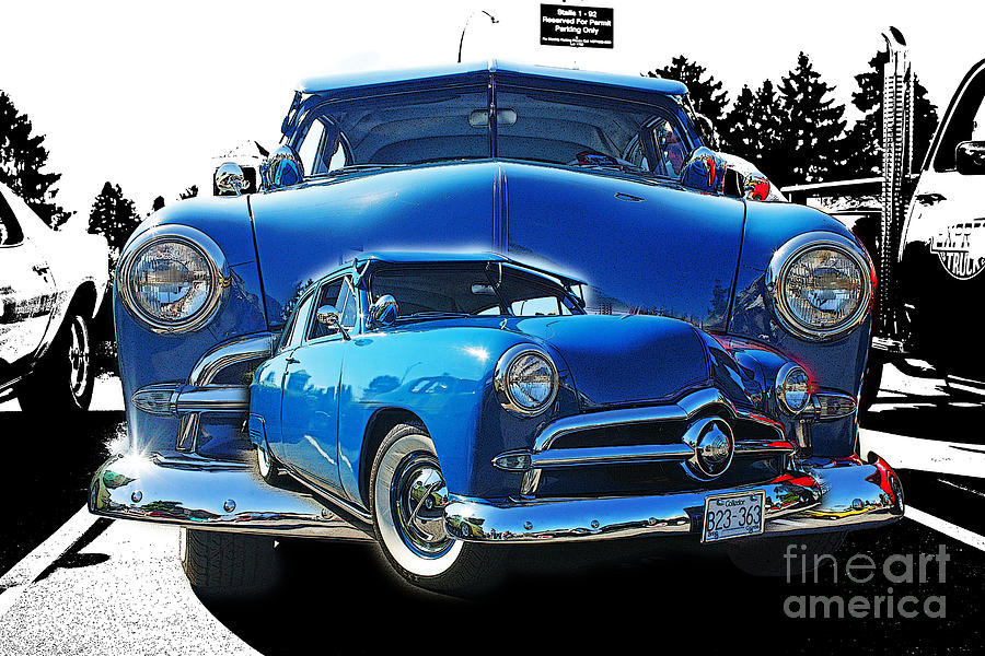 Cars Photograph - Blue Classic Dbl.hdr by Randy Harris
