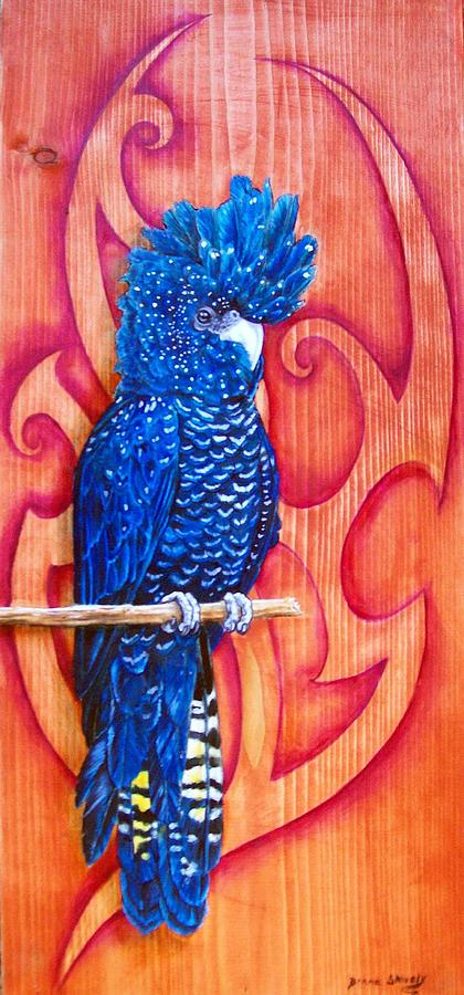 Bird Painting - Blue Cockatoo by Diana Shively