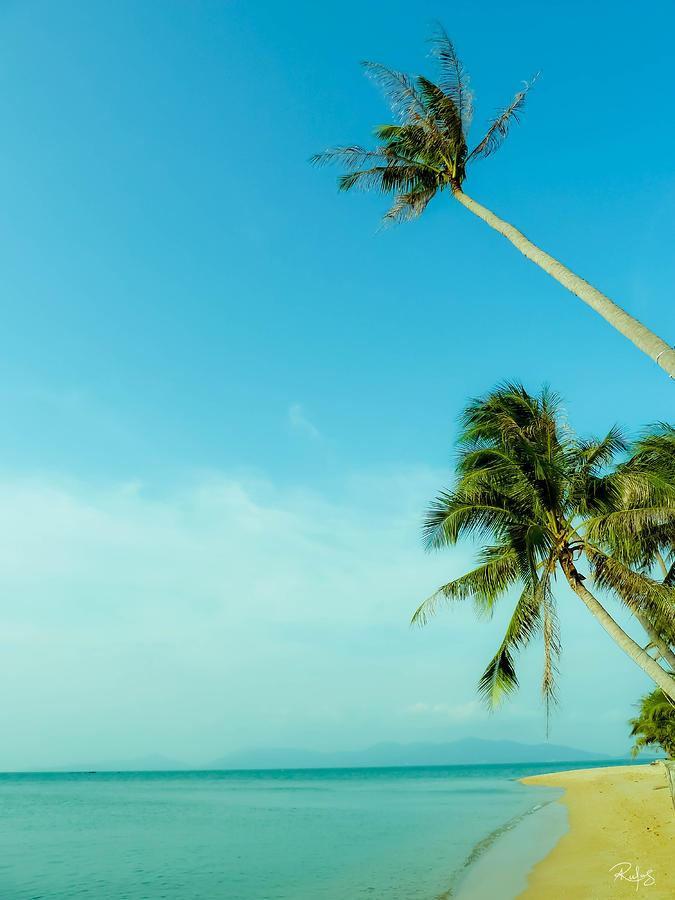 Beach Photograph - Blue Day by Allan Rufus