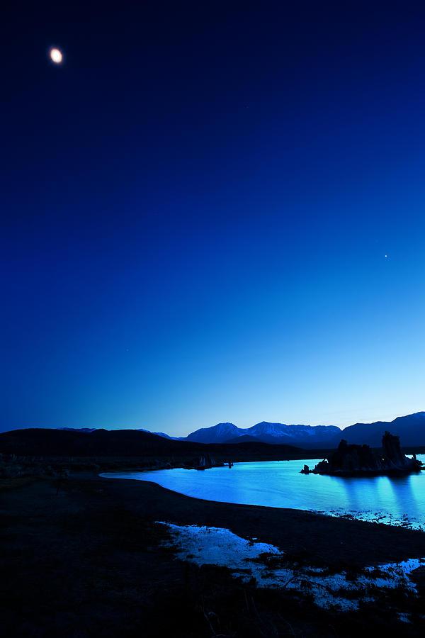 California Photograph - Blue Dusk Mono Lake by Sylvia J Zarco