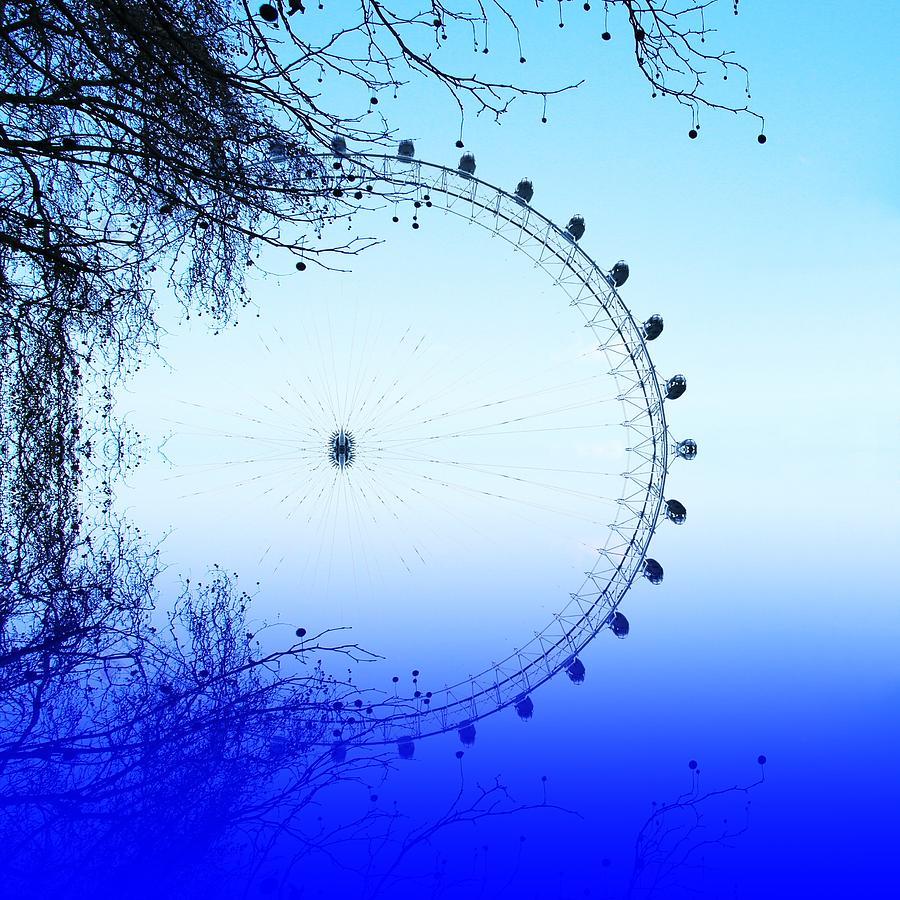 London Eye Photograph - Blue Eye by Sharon Lisa Clarke