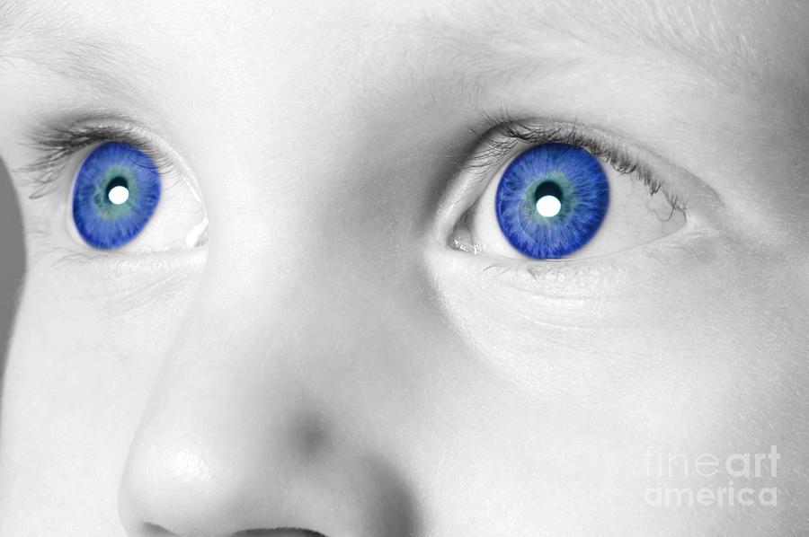 Eye Photograph - Blue Eyed Boy by Richard Thomas