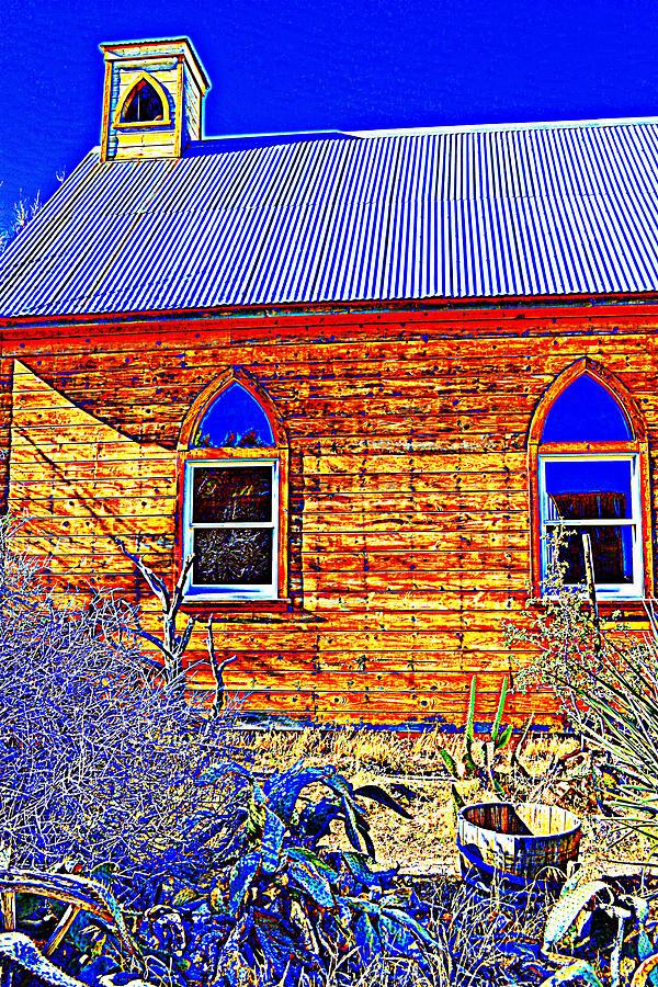 Chapel Photograph - Blue Eyes by Diane montana Jansson