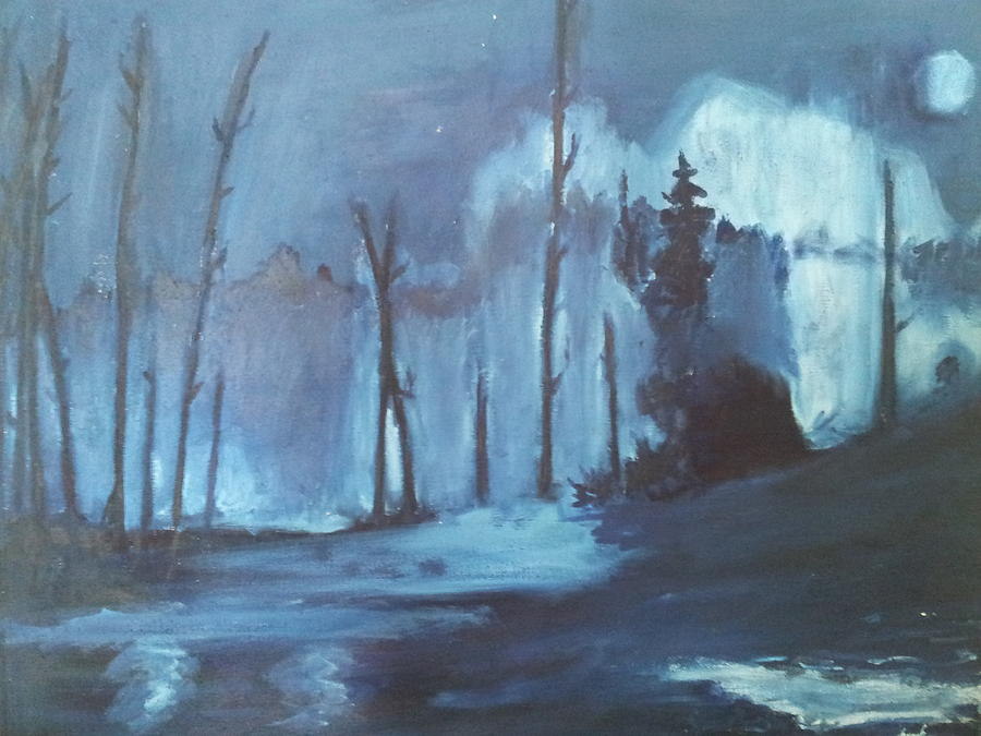 Landscape Painting - Blue Forest by Joseph Giler