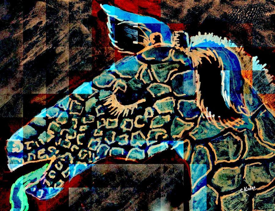 Blue Giraffe by Susan Kubes
