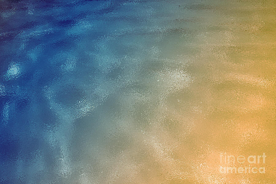 Beautiful Photograph - Blue Gold Background by Rachel Duchesne