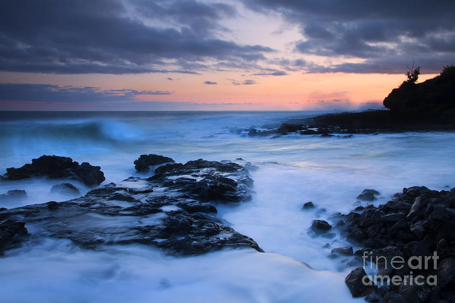 Blue Photograph - Blue Hawaii Sunset by Mike  Dawson