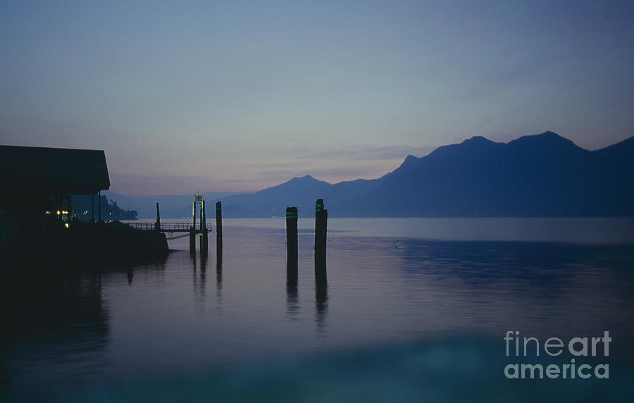Blue Hour At Dawn On Lago Maggiore Photograph