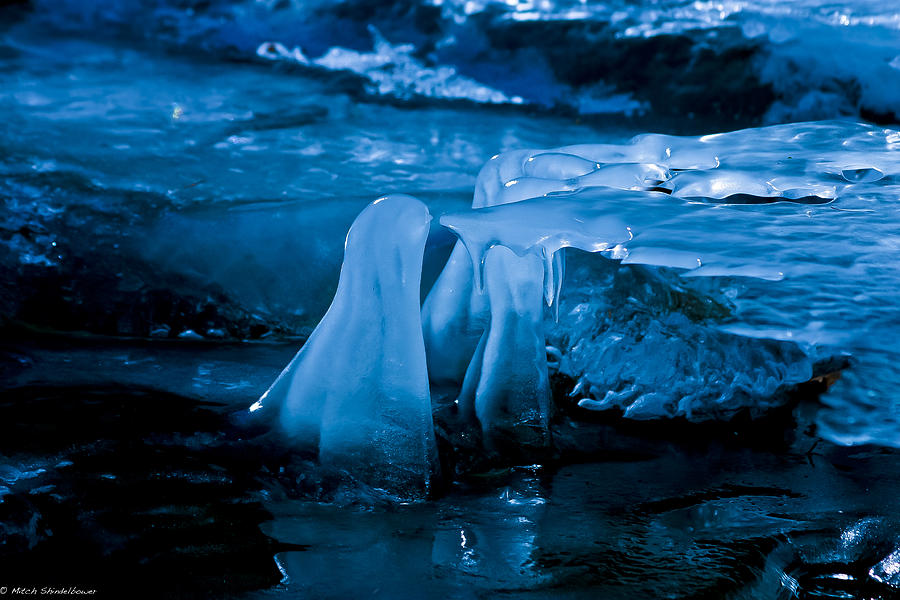 Ice Photograph - Blue Ice by Mitch Shindelbower