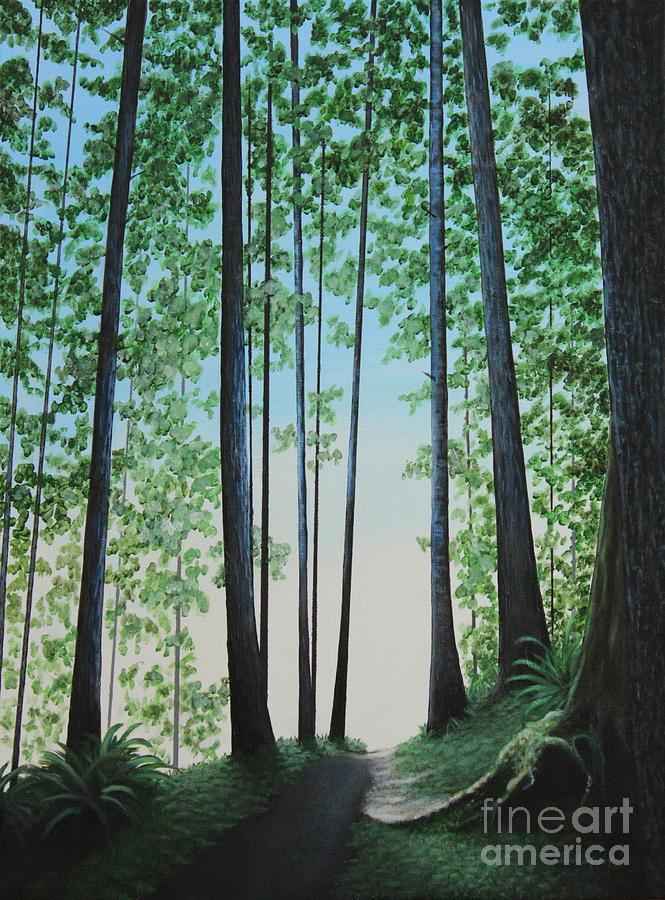 Landscape Painting - Blue In Green by Dan Lockaby