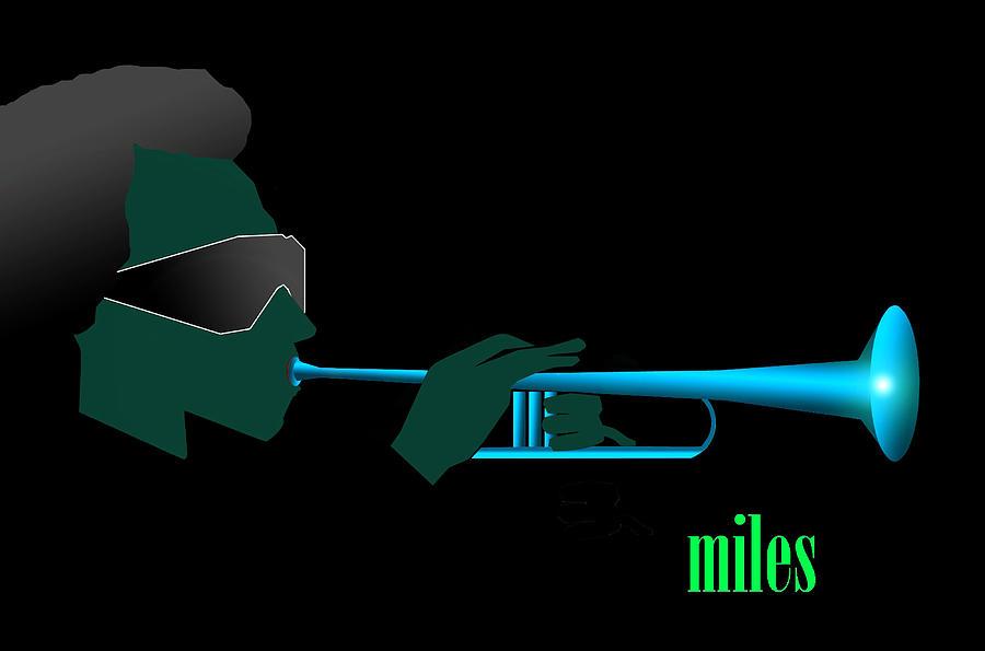 Jazz Digital Art - Blue In Green by Victor Bailey