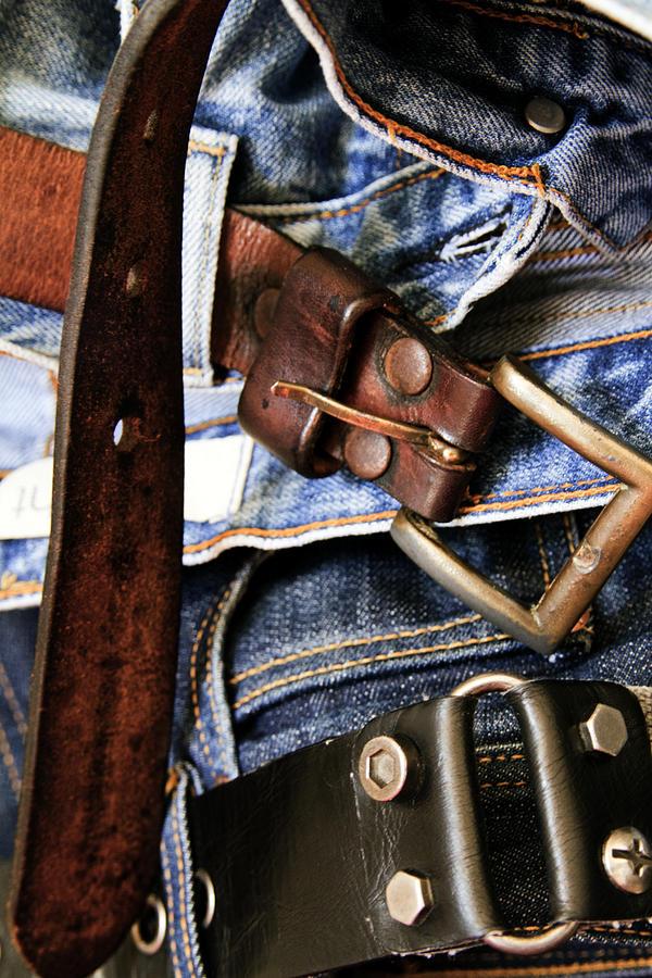 Backbelt Photograph - Blue Jeans by Stelios Kleanthous