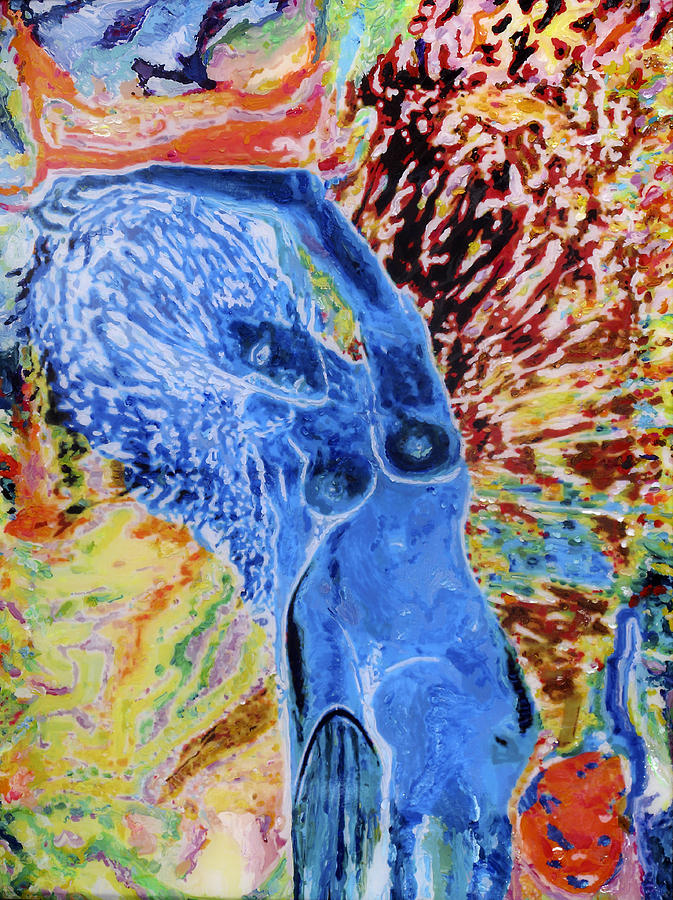 New York Artist Painting - Blue Lady by Allen Vandever