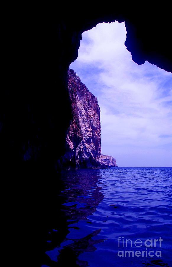 Sea Photograph - Blue Lagoon by Alexandra Cummings