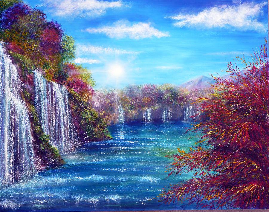 Blue Lagoon Painting By Ann Marie Bone