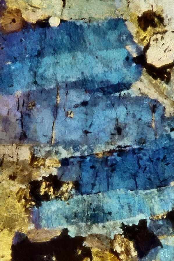Abstract Digital Art - Blue Layers Of The Mind by Gun Legler