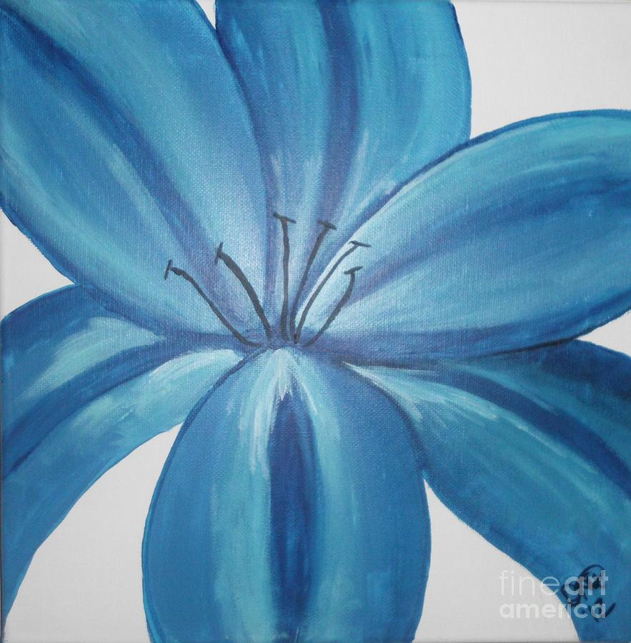 Blue lily painting by dawn plyler blue painting blue lily by dawn plyler izmirmasajfo