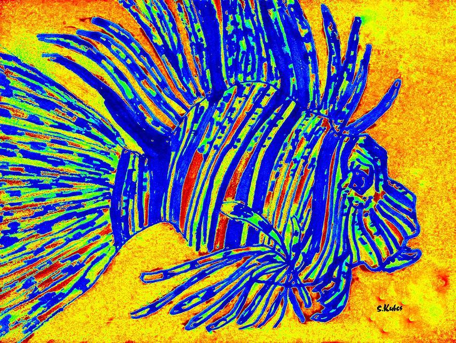 Blue Lion Fish by Susan Kubes