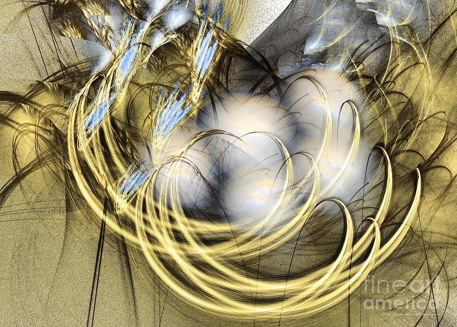Fractal Digital Art - Blue Lullaby - Fractal Art by Sipo Liimatainen