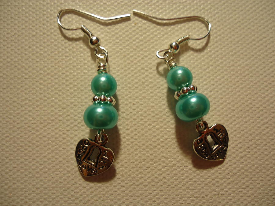 Blue Earrings Photograph - Blue Made With Love by Jenna Green