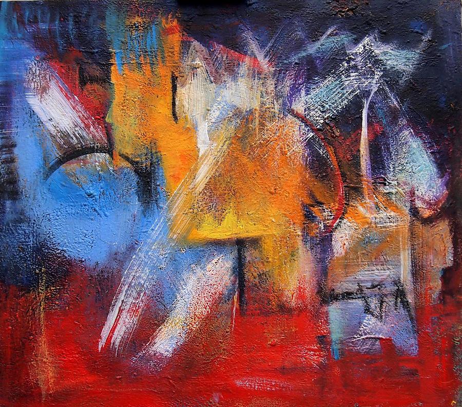 Blue Painting by Marina R Burch