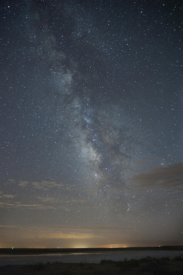 Beauty In Nature Photograph - Blue Milky Way by Melany Sarafis