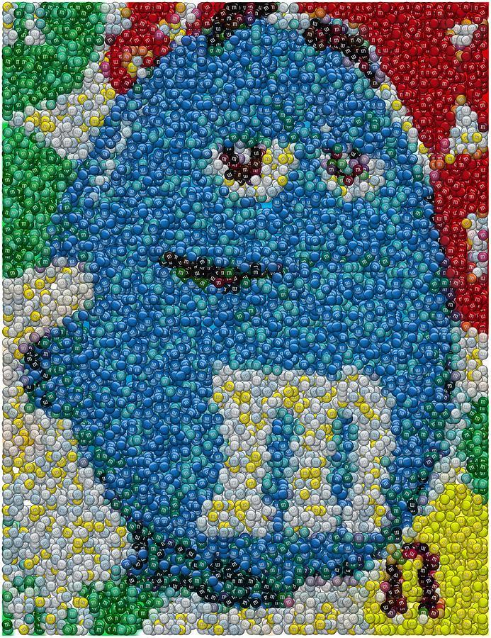 Blue Mm Mosaic Digital Art By Paul Van Scott
