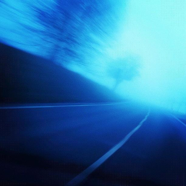 Street Photograph - Blue Monday by Matthias Hauser