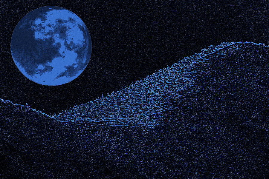 Blue Moon Photograph - Blue Moon by Jesus Nicolas Castanon