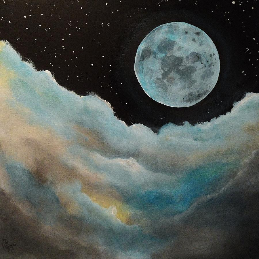 Moon Acrylic Painting