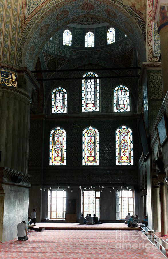 Pray Photograph - Blue Mosque Prayers by Leslie Leda