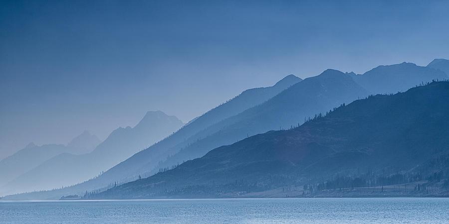 Mountain Photograph - Blue Mountain Ridges by Andrew Soundarajan
