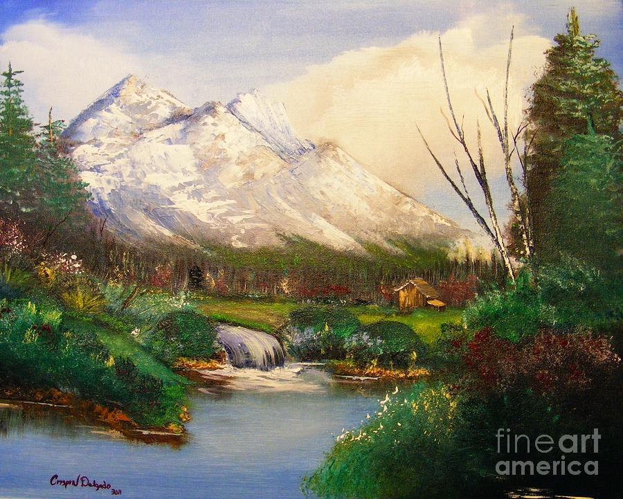 Outdoors Painting - Blue Moutain by Crispin  Delgado