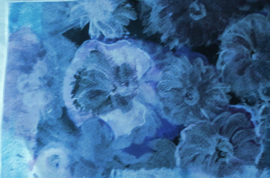Blue Painting - Blue Muted Memories by Anne-Elizabeth Whiteway