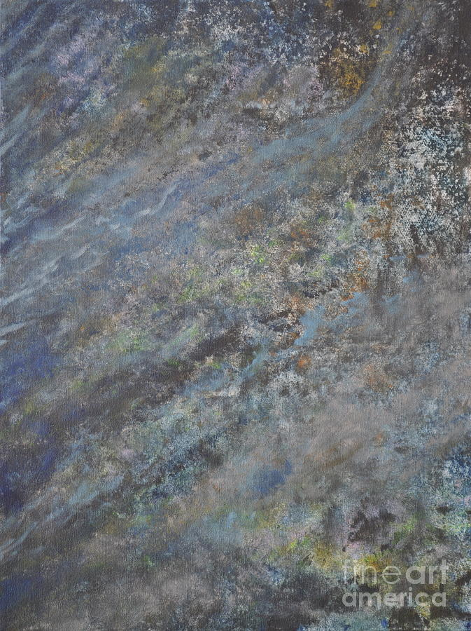 Blue Abstract Painting - Blue Nebula #2 by Penny Neimiller