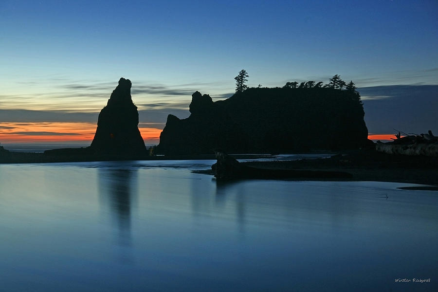 Seascape Photograph - Blue On Blue by Winston Rockwell
