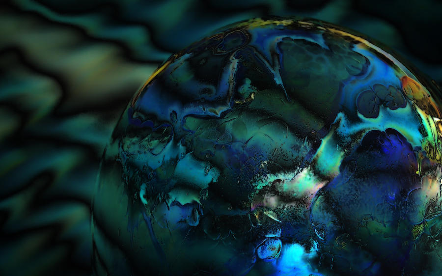 Globe Photograph - Blue Planet by Sandra Sigfusson