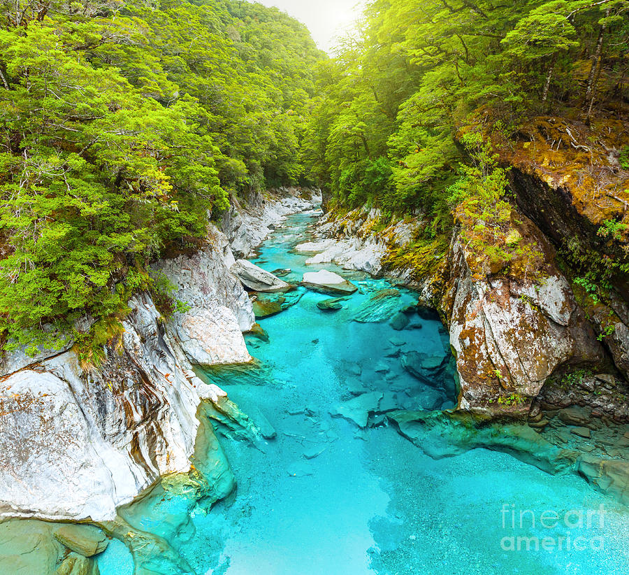 Blue Photograph - Blue Pools by MotHaiBaPhoto Prints