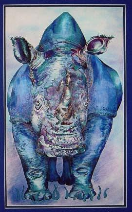 Blue Rhino by Karen Camden Welsh