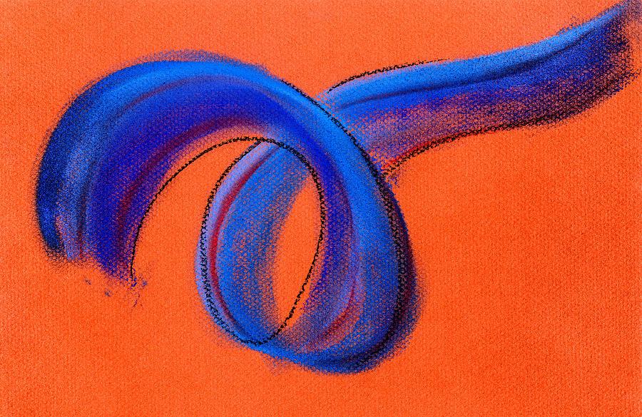 Ribbon Painting - Blue Ribbon by Hakon Soreide