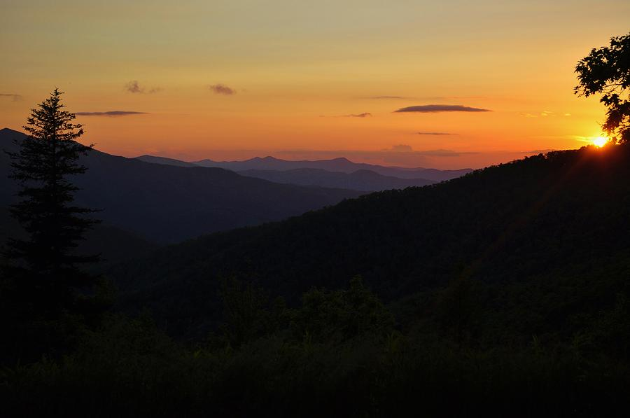 Appalachian Photograph - Blue Ridge Mountain Sunset by Jeff Moose