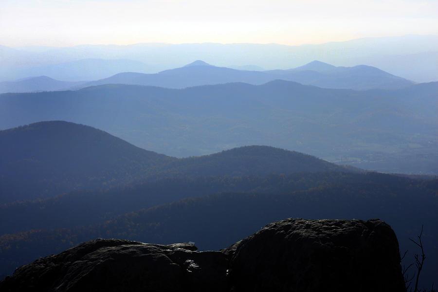 Backgrounds Photograph - Blue Ridge Mountains by Emanuel Tanjala